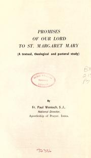 Cover of: The Promises of Our Lord to St. Margaret Mary |