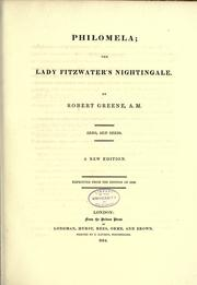 Cover of: Philomela, the Lady Fitzwater's nightingale