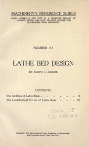 Lathe bed design (Open Library)