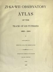 Cover of: Atlas of the tracks of 620 typhoons, 1893-1918. | L. Froc