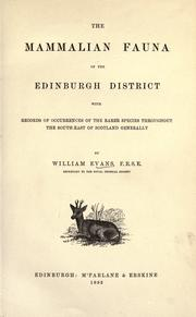Cover of: The mammalian fauna of the Edinburgh district