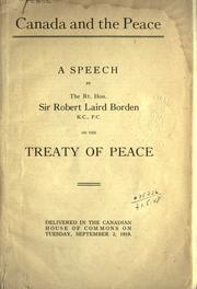 Cover of: Canada and the peace