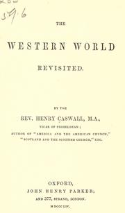 Cover of: The western world revisited