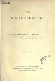 Cover of: The king of the park