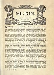 Cover of: Milton