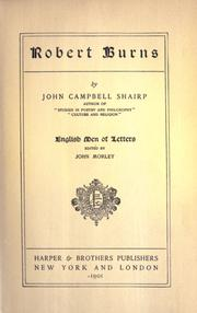 Robert Burns by John Campbell Shairp