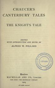 Cover of: The knight's tale