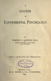 Cover of: A course in experimental psychology