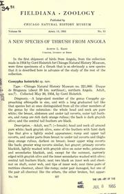 Cover of: A new species of thrush from Angola