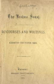 Cover of: Discourses and writings