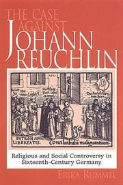 Cover of: The Case Against Johann Reuchlin