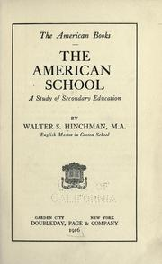 Cover of: The American school