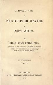 Cover of: A second visit to the United States of North America by Charles Lyell