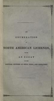 Cover of: An enumeration of North American Lichenes