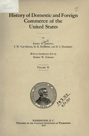 Cover of: History of domestic and foreign commerce of the United States