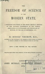 Cover of: The freedom of science in the modern state