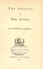 Cover of: The infinite and the finite