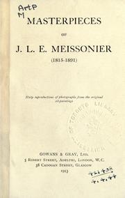 Cover of: Masterpieces of J. L. E. Meissonier (1815-1891)