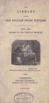 Cover of: Miscellaneous works of Sir Thomas Browne: with some account of the author and his writings.