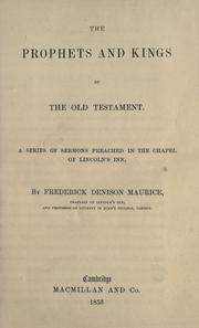 Cover of: The prophets and kings of the Old Testament