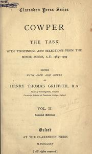 Cover of: [Minor poems]  Edited, with an introd. and notes