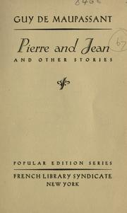 Cover of: Pierre and Jean and other stories