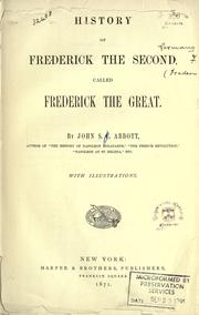 Cover of: History of Frederick the Second, called Frederick the Great