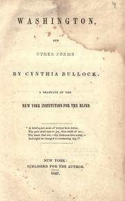 Cover of: Washington, and other poems