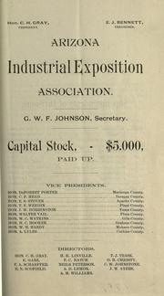 Cover of: Premium list by Exhibit, Arizona Industrial Exposition Association (4th 1887 Phoenix)