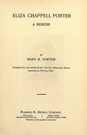 Cover of: Eliza Chappell Porter by Mary Harriet Porter