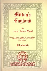Cover of: Milton's England