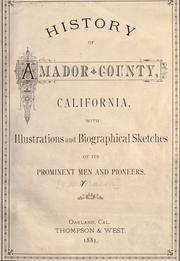 Cover of: History of Amador County, California