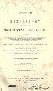 Cover of: A System of Mineralogy:: Including an Extended Treatise on Crystallography: with an Appendix ..