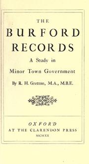 Cover of: The Burford records