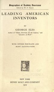 Cover of: Leading American inventors | Iles, George