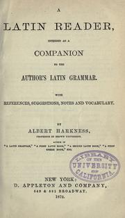 A Latin reader by Albert Harkness