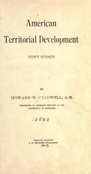 Cover of: American territorial development