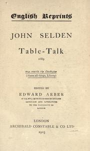 Cover of: Table-talk, 1689