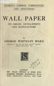 Cover of: Wall paper | George Whiteley Ward