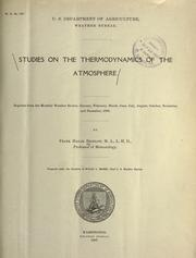 Cover of: Studies on the thermodynamics of the atmosphere