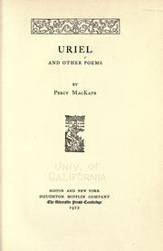 Cover of: Uriel, and other poems