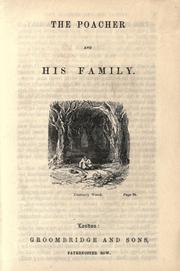 Cover of: The poacher and his family by