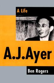Cover of: A.J. Ayer