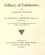 Cover of: Gilbert, of Colchester
