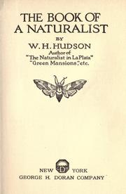 Cover of: The book of a naturalist