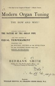 Cover of: Modern organ tuning