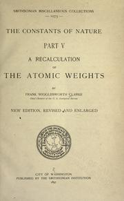 Cover of: A recalculation of the atomic weights