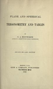 Cover of: Plane and spherical trigonometry and tables