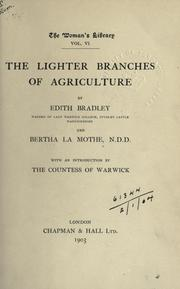 Cover of: The lighter branches of agriculture