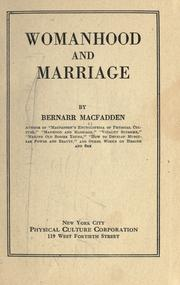 Cover of: Womanhood and marriage